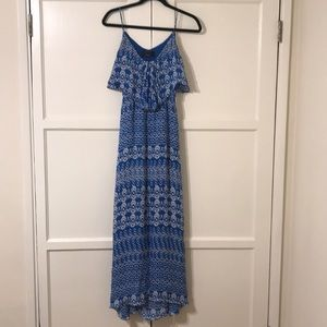Dolce vita verna maxi dress blue tribal print sz m